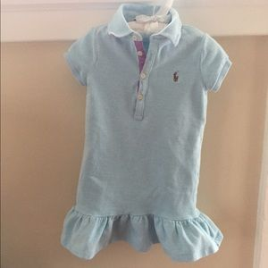 Ralph Lauren Blue Short-Sleeve Polo Dress 3T